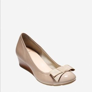 Cole Haan Tali Beige Bow Wedge